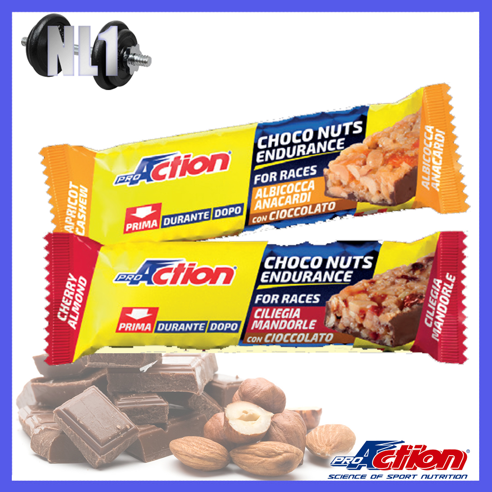CHOCO NUTS BAR [25 barrette da 35 G] PROACTION
