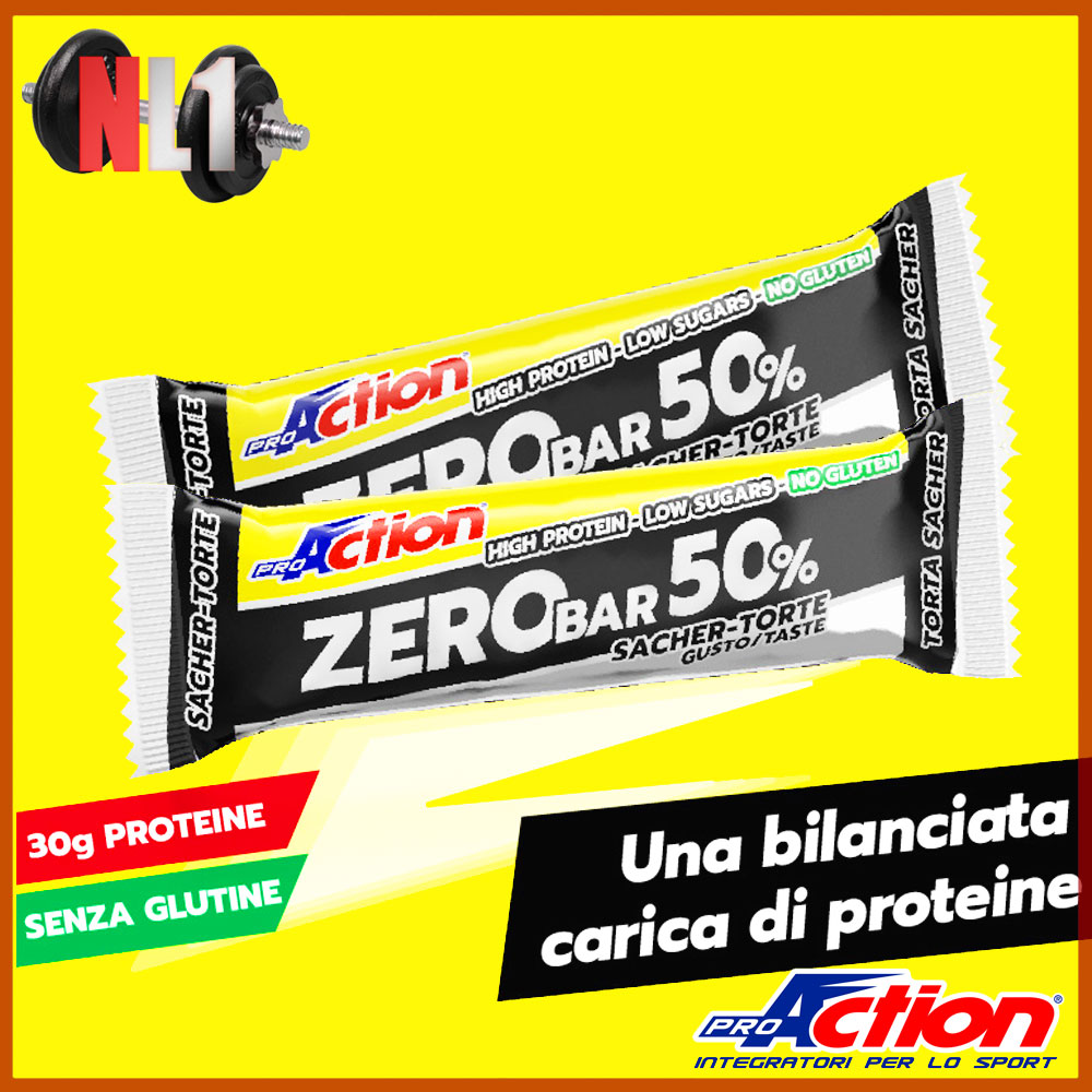 PRO ACTION - ZERO BAR 50% [1 BARRETTA= 60G]
